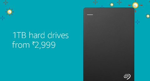 1Tb hard Drives starting Rs 2999