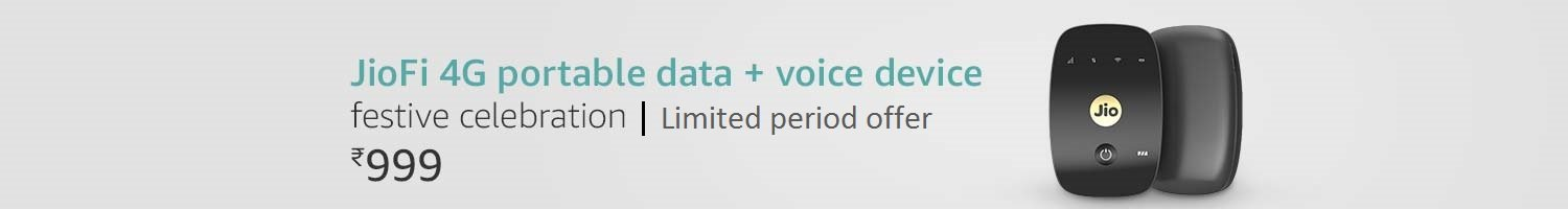 Jio 4G portable data and voice device