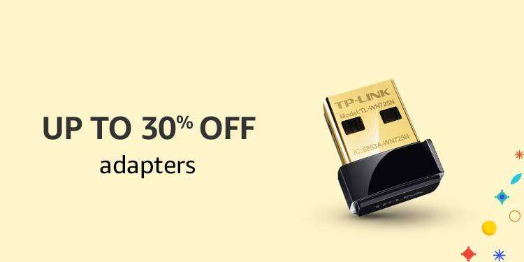 Up to 30% off Adapters