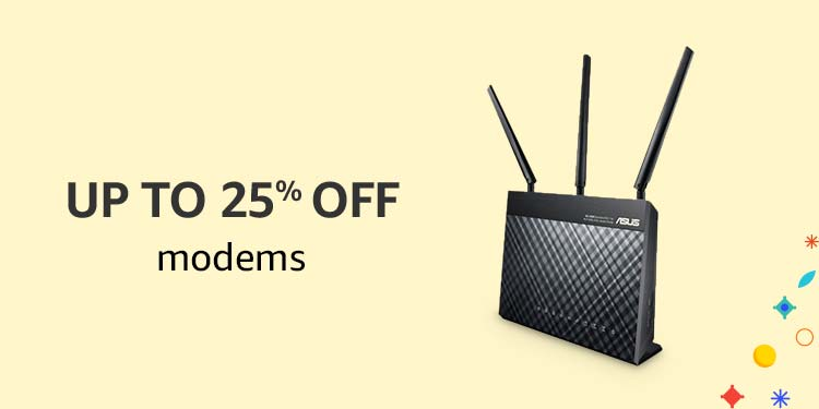 Up to 25% off Modems