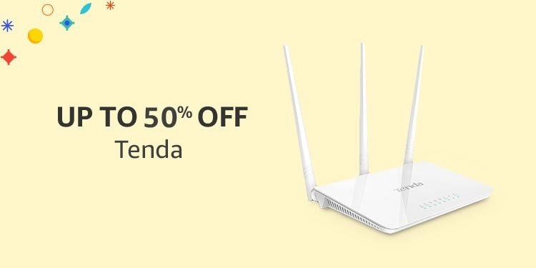 Up to 50% off Tenda