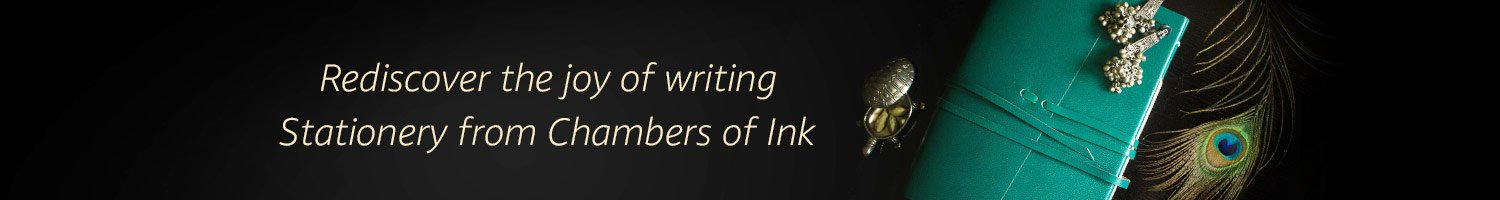 Redisover the joy of writing. Stationery from Chambers of Ink