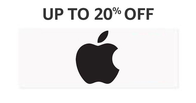UP TO 20% OFF: Apple