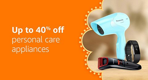 Up to 40% off personal care appliances