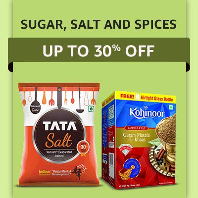 Sugar, Salt & Spices Up To 30% OFF