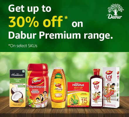 Up to 30% off on Dabur Range