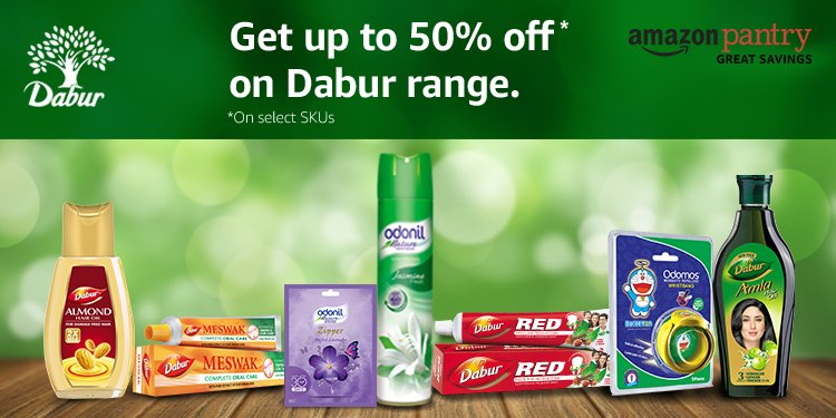 Up to 50% off Dabur range