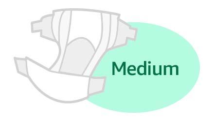 Medium diapers