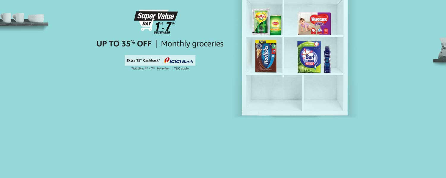 Up to 35% off monthly groceries