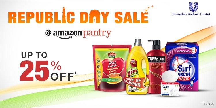 Amazon Republic Day Pantry Sale - 25% off