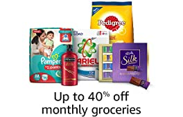 Up to 40% Monthly groceries