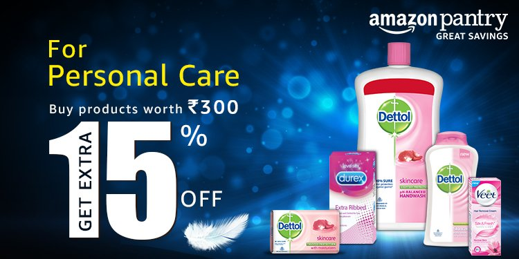 Extra 15% off Dettol, Veet and Durex