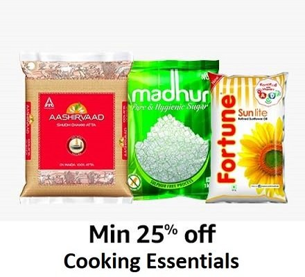 Min 25% off Cooking Essentials
