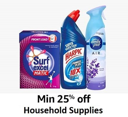 Min 25% off Household supplies