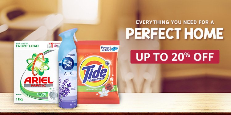 Up to 20% off on Tide and Ariel