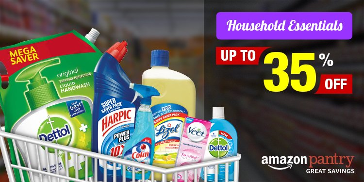 Household essentials upto 35% off