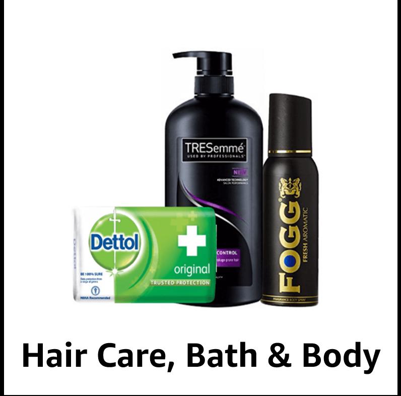 Hair care, bath & body