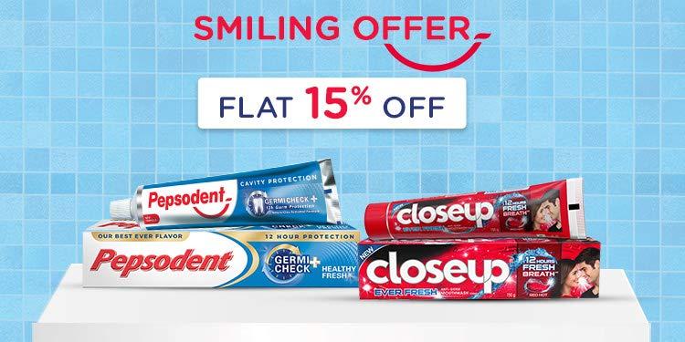 Smiling Offer Flat 15% off