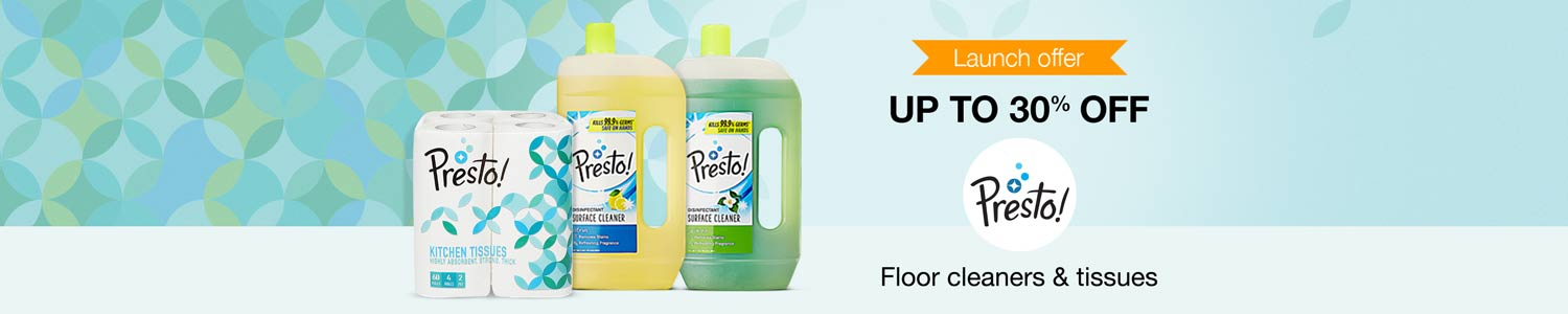Presto! cleaning supplies up to 30% off
