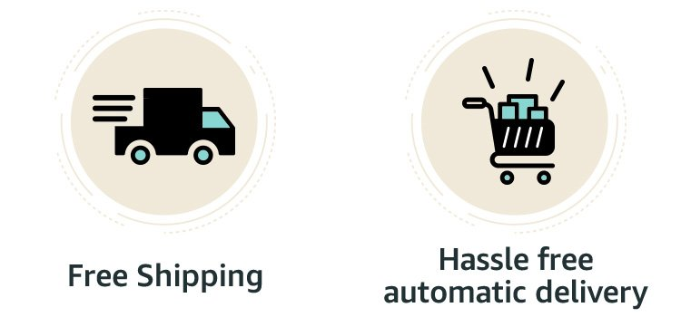Free Shipping | Hassle free automatic delivery