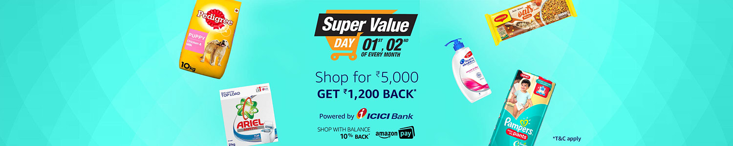 Super Value Day 01st,02nd on Every Month | Shop for Rs 5,000 & Get Rs 1,200 Back