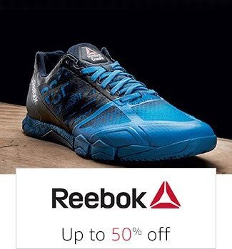 3cad50dfaed0f Reebok  Up to 50% off. Fila  Min 40% off