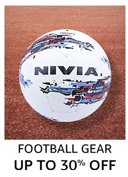 Football Gear: Up to 30% off