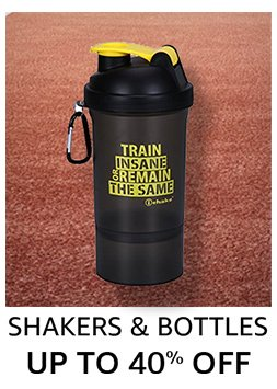 Shakers and bottles: up to 40% off