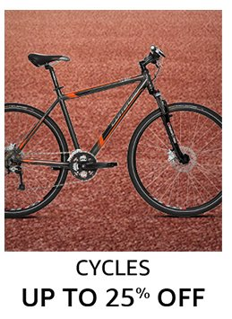 Cycles: Up to 25% off