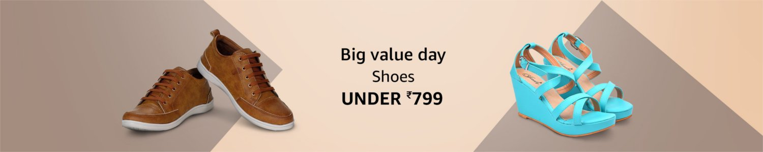 Big value day | Shoes under Rs. 799