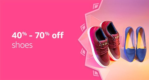 40% to 70% off: Shoes