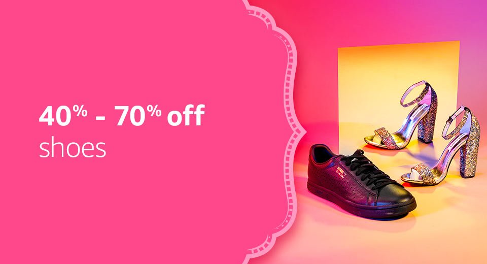 40% - 70% off: shoes