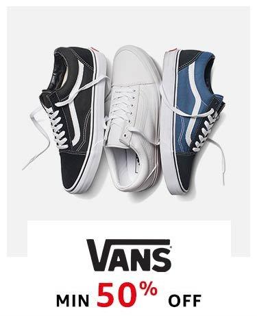 Vans : Min. 50% off