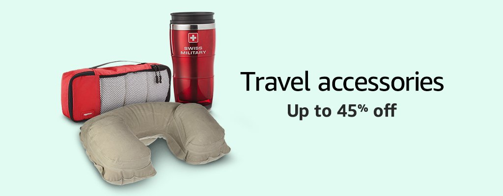Travel accessories up to 45% off