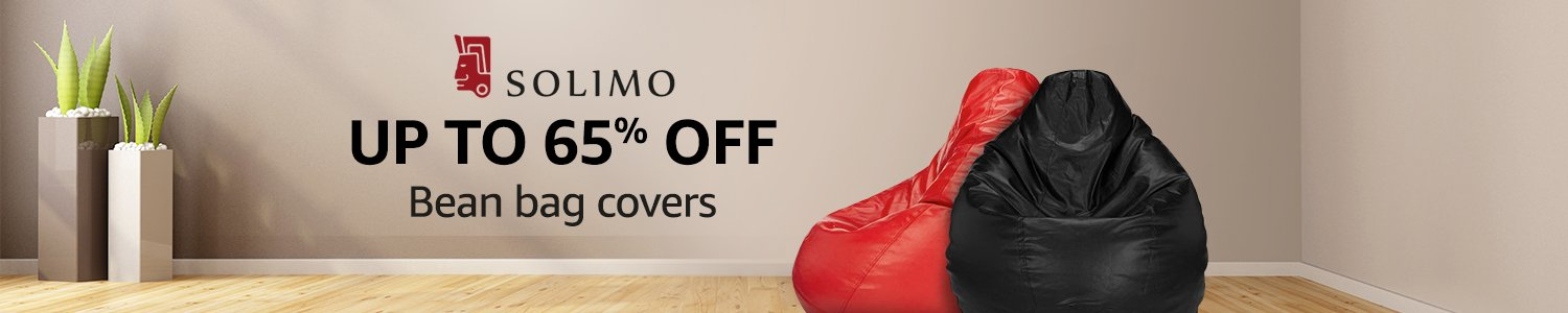 Up to 65% off: Solimo bean bag covers