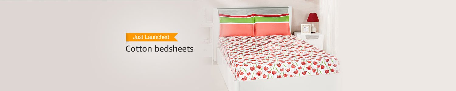 Just Launched: Cotton bedsheets