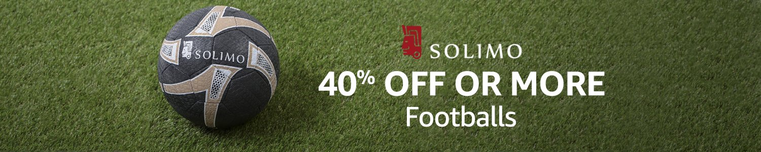 40% off or more: Solimo footballs