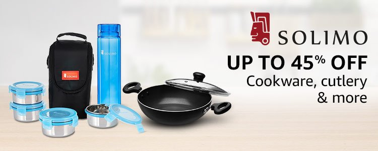 Up to 45% off: Cookware, cutlery & more from Solimo