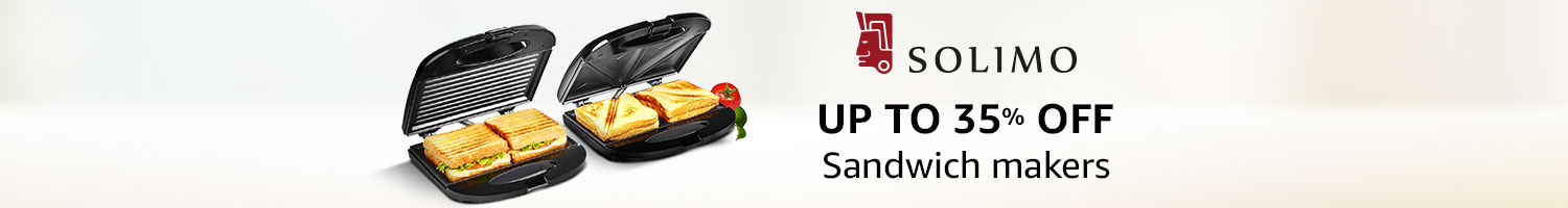 Up to 35% off: Sandwich makers from Solimo