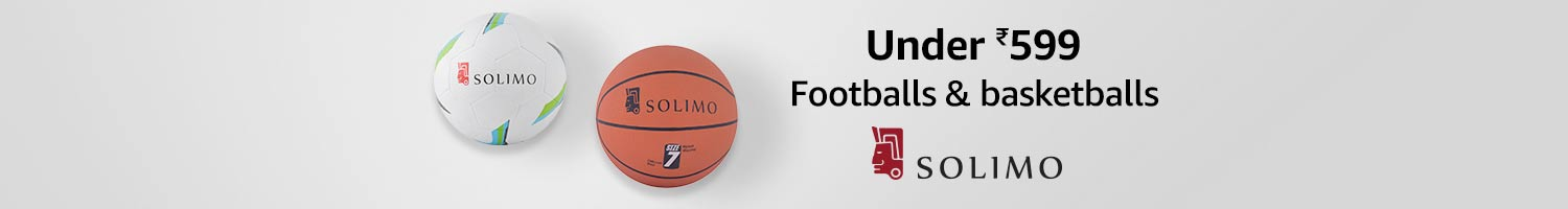 Under 599 | Footballs & basketballs from Solimo
