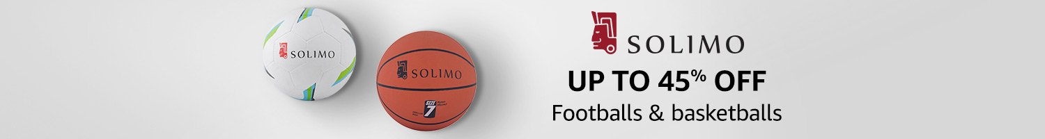 Up to 45% off: Footballs & basketballs from Solimo