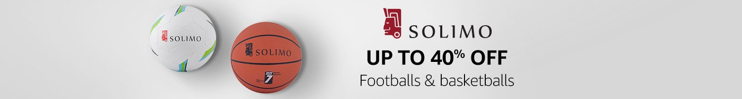 Up to 40% off: Footballs & basketballs from Solimo