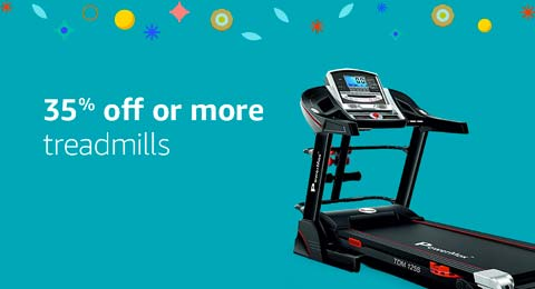 35% off or more treadmills