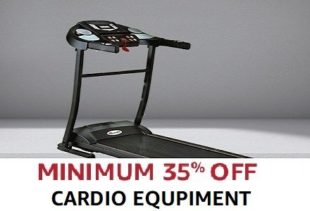 minimum 35% off Cardio