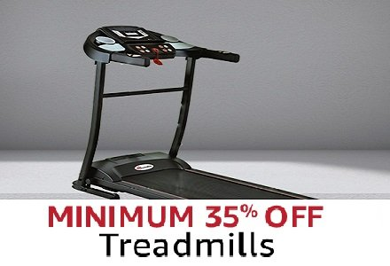 minimum 35% off tread mills
