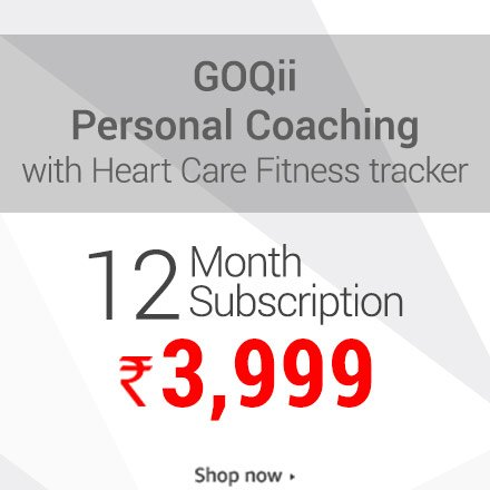 GoQii Personal coaching with fitness tracker 3 month subscription 3,999