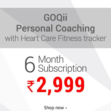 GoQii Personal coaching with fitness tracker 3 month subscription 2,999