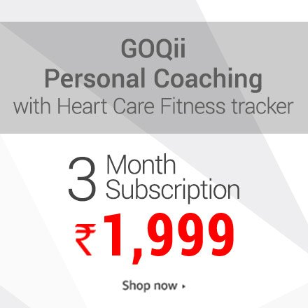 GoQii Personal coaching with fitness tracker 3 month subscription 1,999