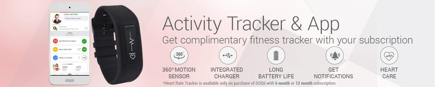 GoQii Activity Tracker and App