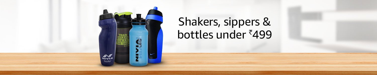 Shakers. Bottles & sippers under 499